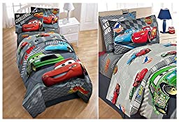 7 Piece Full Size Disney Cars Comforter, Two Pillow Shams and Sheet Set