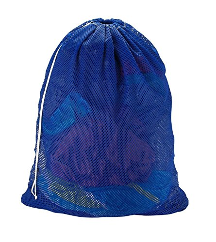 Easy-W Blue-24'' x 36'' Commercial, Heavy Polyester Mesh Laundry Bag - Made in USA by Easy-W