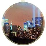 New York City Twin Towers Acrylic Suncatcher Window Ornament, 3 1/2 Inch