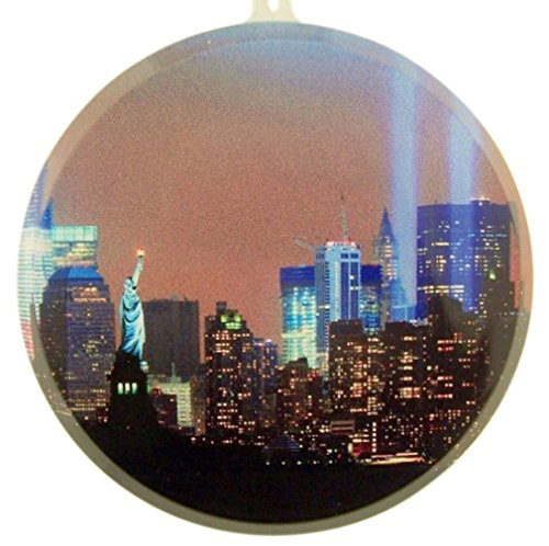New York City Twin Towers Acrylic Suncatcher Window Ornament, 3 1/2 ()