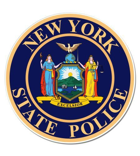 VR Graphics MAGNET New York State Police - Vinyl Sticker Waterproof Decal Sticker (State Police Decals)