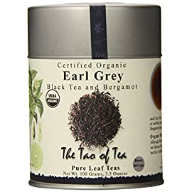 The Tao of Tea, Earl Grey Black Tea, Loose Leaf, 3.5 Ounce Tin 29 3.5 ounce USDA organic Pure leaf tea