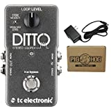 TC Electronic Ditto Stereo Looper Guitar Effects Pedal Bundle 960840001