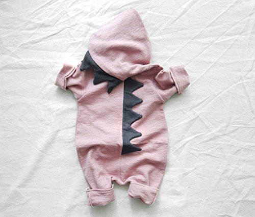 Toddler Baby Romper Boys Girls Cartoon Dinosaur Long Sleeve One-piece Jumpsuit Outfits