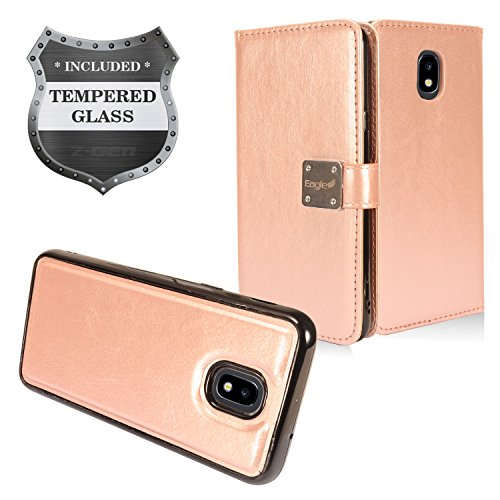Z-GEN - Galaxy J7 2018, J7 Refine, J7 Star, J7 Crown, J7 Aura, J7 Top, J7 V J7V 2nd Gen J737 - Detachable Magnetic Flip Wallet Phone Case for Samsung ()