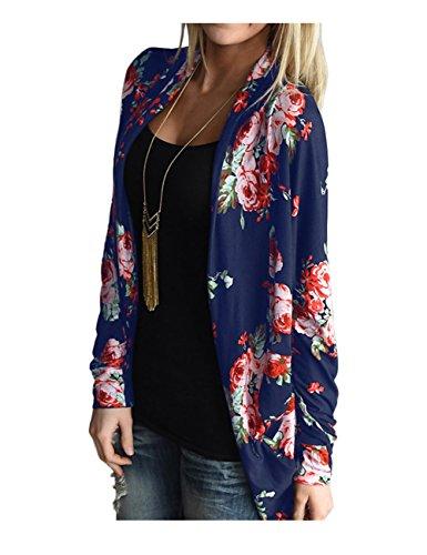 JOYMODE Women Flowy Sheer Crop Sleeves Loose Kimono Cardigan Blouse Top