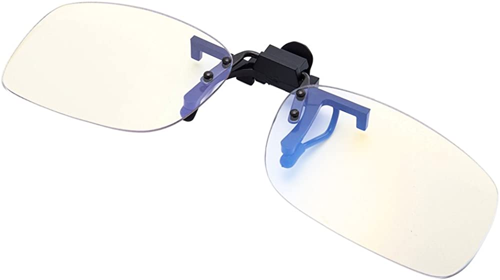 EYEGUARD Blue Light Filter Clip-on Computer Gamer Glasses Strain Relief Anti-glare Radiaton Protection Eyewear