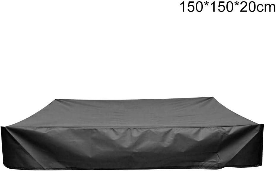 couvercle carr/é /étanche /à la poussi/ère avec cordon de serrage couvercle de bac /à sable ZQEDY Couvercle de bac /à sable b/âche /étanche pour bac /à sable de piscine 150x150x20cm Comme sur limage