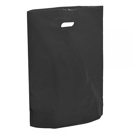 Bolsas de plástico negro - 15 x 18 x 3 pulgadas bolsa de ...
