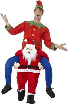NET TOYS Disfraz a cuestas Hombre de Navidad | Original Traje para ...