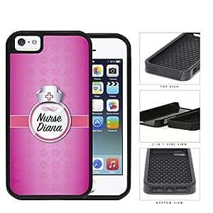 Girly Pink Nurse NAME MONOGRAM CUSTOM Design iPhone 5 5s (2-piece) Dual Layer High Impact Cell Phone Case