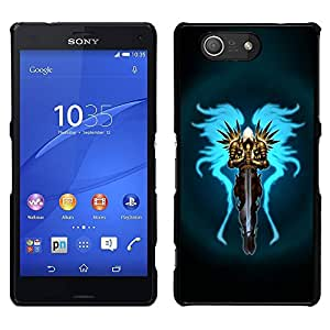 For Sony Xperia Z3 Compact , S-type Guerrier - Arte & diseño plástico duro Fundas Cover Cubre Hard Case Cover