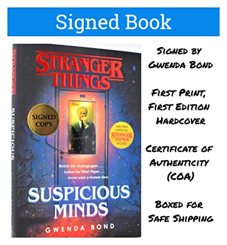 (Stranger Things: Suspicious Minds AUTOGRAPHED by Gwenda Bond SIGNED BOOK COA 7048)