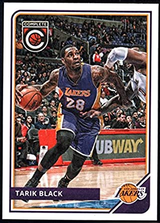 d59cf1998 2015-16 Complete Basketball  12 Tarik Black Los Angeles Lakers Official NBA  Trading Card