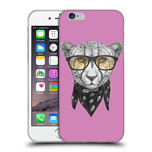 "GoGoMobile Coque de Protection TPU Silicone Case pour // Q05030618 Foulard cheetah Bronze // Apple iPhone 6 4.7"""