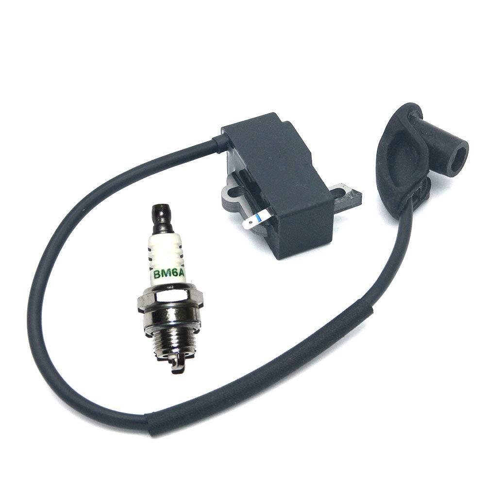 P SeekPro Ignition Module Coil Spark Plug for STIHL Backpack Blower BR350 BR350Z BR430 BR430Z SR430 4244 400 1307 0000 400 7000