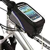 Roswheel bicycle bike frame front tube bag for 4.2 inch cell phone ( Blue )