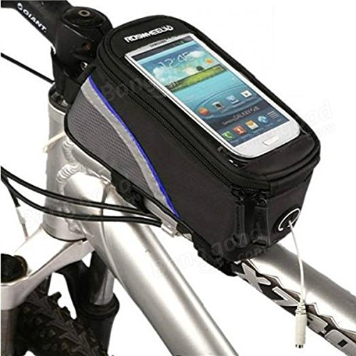 Roswheel bicycle bike frame front tube bag for 4.2 inch cell phone ( Blue ) by Freelance Shop SportingGoods (Image #5)