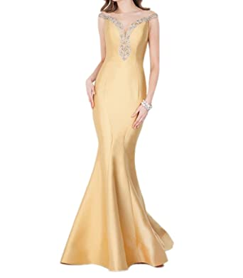 Ivory Jeweled Evening Dress