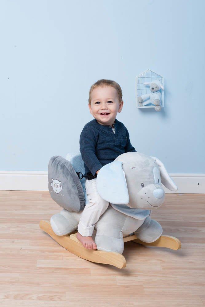 Jungen Alex der Esel Nattou Schaukeltier ab 1 Jahr mit Gurt blau