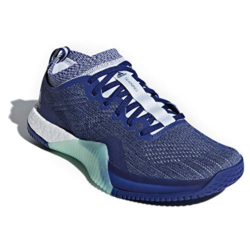 adidas Women's Crazytrain Elite Cross Trainer (6 M US, Mystery Ink/Cloud White/Aero Blue)