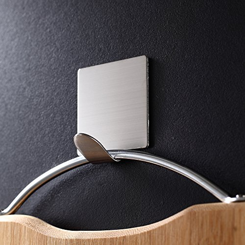 Adhesive Hooks,Heavy Duty 3M Hooks Stainless Steel Waterproof Wall Hooks for Robe Coat Towel Keys Bags-Home Kitchen Bathroom 4-pack Photo #3