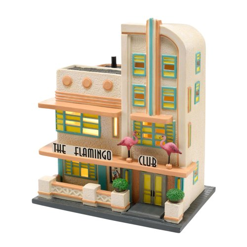 (Department 56 Christmas in the City Village The Flamingo Club Lit House)