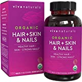 Organic Hair Skin and Nails Vitamins for Women with Biotin, Hair Vitamins and Skin Vitamins That Promotes Healthy Hair…