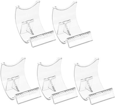 5X5X4CM 5 Piezas Soporte Montaje de Caballete de Acr/ílico Transparente Duradero