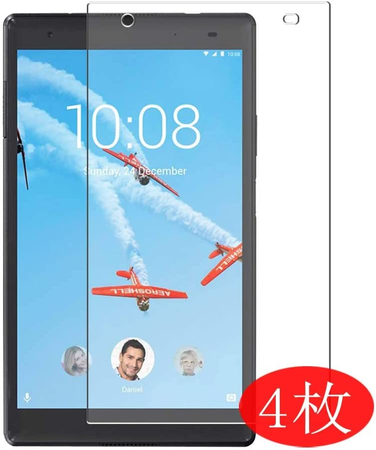 """【4 Pack】 Synvy Screen Protector for Lenovo TAB 4 8 Plus TB-8704N 8"""" TAB4 TPU Flexible HD Clear Case-Friendly Film Protective Protectors [Not Tempered Glass] New Version"""