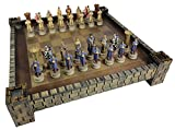 HPL Medieval Times King Richard The Lionheart Knights Chess Set W/ 17' Castle Fortress Board