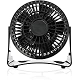 Brentwood 4 Inch and 5 Blade Portable Adjustable Personal Desk Fan, Black