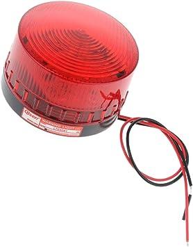 Luz De Advertencia De Luz Estroboscópica Giratoria LED De 24 V Señal De Señalización De Flash De Baliza Roja - 12: Amazon.es: Bricolaje y herramientas