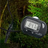 HDE LCD Digital Fish Tank Aquarium Thermometer Terrarium Marine Temperature (Black)