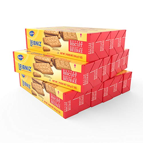 Bahlsen Leibniz Butter Biscuits (16 pack) | Our classic original buttery biscuits (7 ounce boxes)