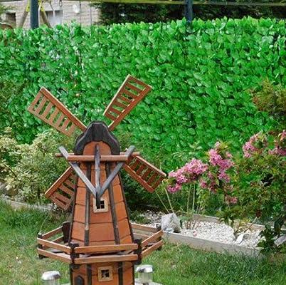 Seto vegetal artificial de follaje de rosal, altura de 1 m o 1, 50 m: Amazon.es: Jardín