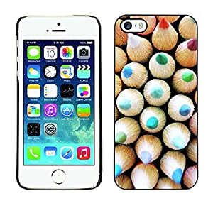 Soft Silicone Rubber Case Hard Cover Protective Accessory Compatible with Apple iPhone? 5 & 5S - teal kids teacher school pattern picture