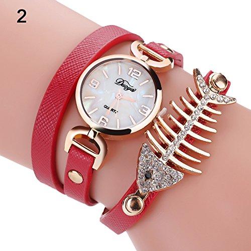 Blackzone Creative Bracelet Watch Rhinestone Band Quartz Lady Bracelet Wrist Watch (Band Rhinestone Ladies Watch)