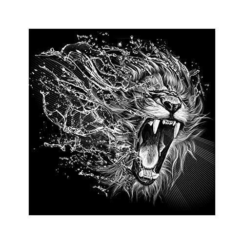 lightclub Minimalist Tiger Lion Head DIY Partial Diamond Painting Cross Stitch Wall Craft Q1289