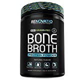 Bone Broth Protein Powder - Pure Grass-Fed Ancient Form of Nutrition + Vital Collagen Peptides. Keto Gluten-Dairy-Soy-Nut Free - Glucosamine + Chondroitin + Hyaluronic Acid. Natural Flavor (15.7 oz)