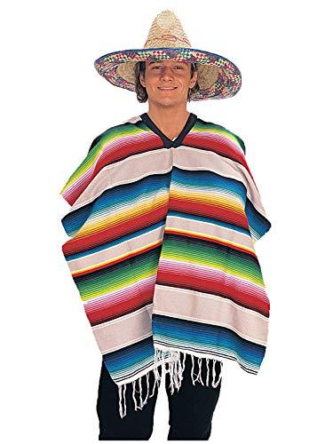 Rubie's Men's Standard Mexican Serape (Poncho), Multicolor One ()