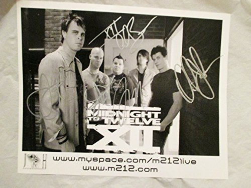 2008 Midnight to Twelve Full Band Autographed Signed Promo Photo -