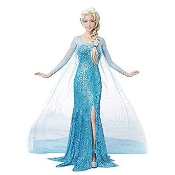 cosline コスプレ衣装 コスチューム アナと雪の女王 エルサ 大人用 3点セット (