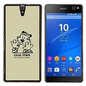 Qstar Arte & diseño plástico duro Fundas Cover Cubre Hard Case Cover para Sony Xperia C5 Ultra (Calma tigre de Down)