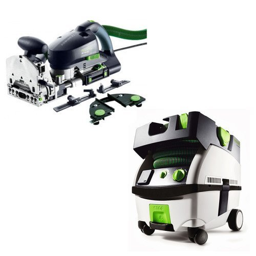 Festool PN574447 Domino XL Joiner Set with CT MINI HEPA 2.6 Gallon Mobile Dust Extractor by Festool