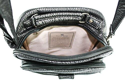 Bag King Body Lily Dark Cross Silver Purse w6FqHT7Aw