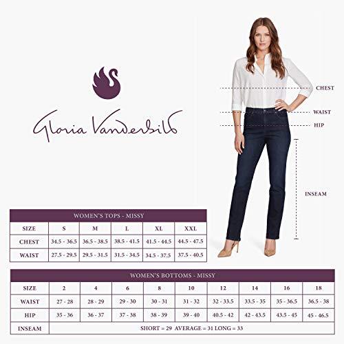 Gloria Vanderbilt womens Amanda Classic High Rise Tapered Jeans, Black, 12 Petite US