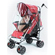 EUBEST Universal Clear Waterproof Rain Cover Wind Shield Fit Most Strollers Pushchairs