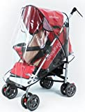 FASOTY Deluxe Stroller Weather Shield, Baby Rain Cover, Universal Size, Waterproof, Water Resistant, Windproof, See Thru, Ventilation, Clear, Plastic, Protection, Shade, Umbrella, Pram, Vinyl