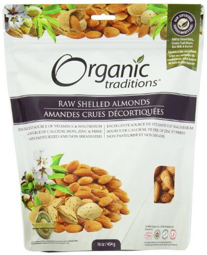 Organic Traditions Premium Raw Shelled, Almonds, 16 Ounce ()